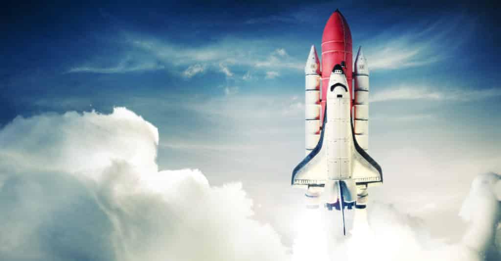 Startup HR - startende Rakete