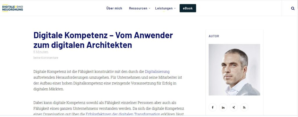 Artikel Screenshot - Digitale Kompetenz