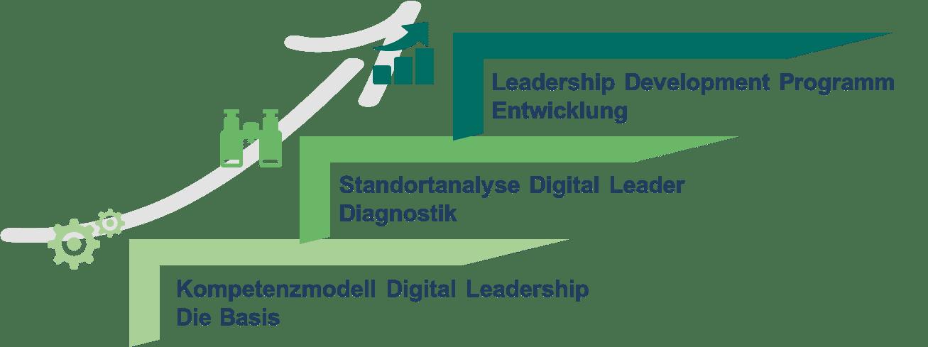 Digital Leadership - Unser Programm in 3 Stufen
