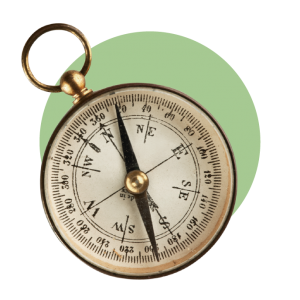 Kompass grüner Bubble-14